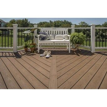 Trex Enhance Basics 12 Ft Saddle Grooved Composite Deck Board Lowes Com In 2020 Composite Decking Deck Railings Trex Enhance