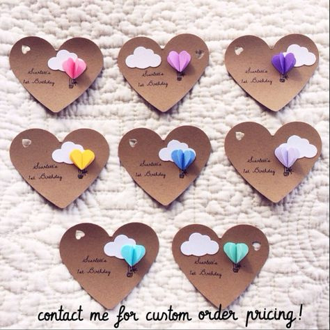 Heart Hot Air Balloon Gift Tags by theadoration on Etsy
