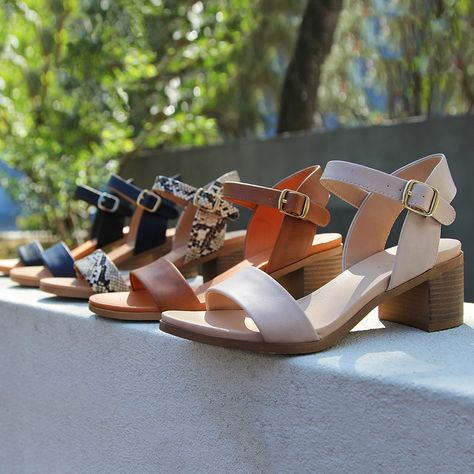 The RAEGAN block heel sandals are at the height of everyday