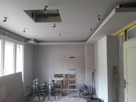 Placo   plaques de platre - Brielles (Ille Et Vilaine - 35 - placo salle de bain plafond
