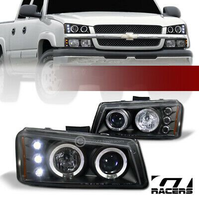 Ad Ebay For 03 06 Chevy Silverado Black Drl Led Dual Halo Projector Headlights Lamps Jy In 2020 Projector Headlights Chevy Silverado Chevy