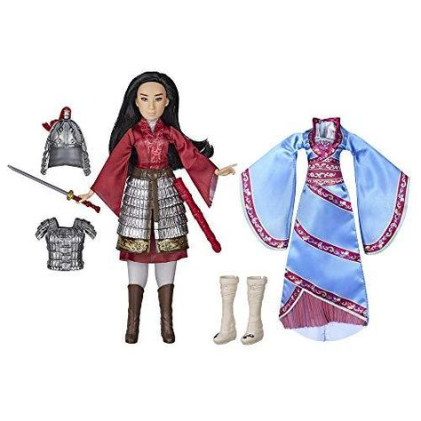 Disney Mulan Two Reflections Set, Fashion Doll with 2 Outfits and Accessories, Toy Inspired by Disney's Mulan Movie - Default