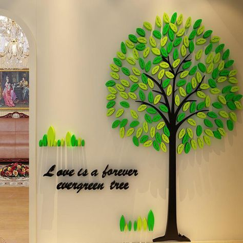 Online Order Simple Tree Tree Forest Toritate Body Wall Sticker Is A Happily Petit Reform Concealment Of Wound 3d Size A Size B In 2020 Wall Stickers Cartoon Tree Wall Stickers