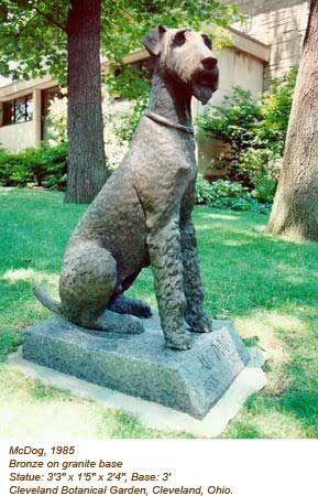 Mcdog By William Mcvey 1985 Cleveland Botanical Garden Cleveland Ohio Airedale Dogs Vintage Dog Dog Statue