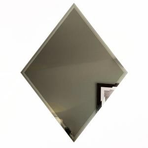 Abolos Reflections Graphite Blue Deco 4 In X 12 In Frosted Glass