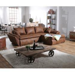 Bettfunktion Mit Reduzierte Wohnlandschaften Delife Ecksofa Loana 275x185 Cm Braun Mit Schlaffunktion Ecksof Decor Home Living Room Furniture Modern Couch