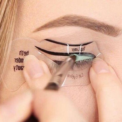 Cat Eye Eyebrows Stencils