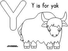 Y Is For Yak Preschool Projects Preschool Letters Coloring Books