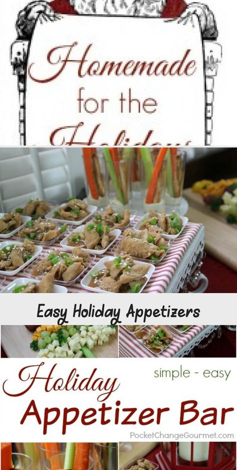 Create this Simple Holiday Appetizer Bar and WOW your guests! Pin to your Recipe...  Create this Simple Holiday Appetizer Bar and WOW your guests! Pin to your Recipe Board! #holidaysre #Appetizer #Bar #Create #GUESTS #Holiday #Pin #Recipe #Simple #WOW