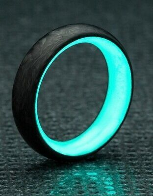 Ebay Advertisement New C6 Carbon6 Carbon Fiber Lume Ring Turquoise Glow Size 10 Never Worn In 2020 Turquoise Rings Rings Palm Ring