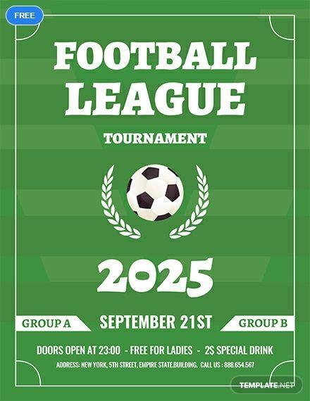 Free Soccer League Flyer Sports Flyer Flyer Template Free Football