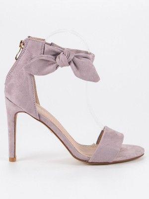 4470bbb92 Fialové sandále na opätku #sandals | Dámske sandále