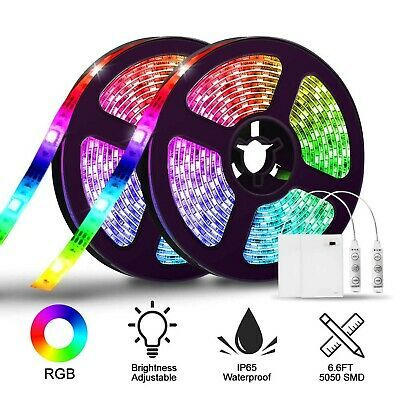 Led Strip Lights Battery Operated Solmore 6 6ft 2m Rgb Led Light Strip Smd505 25 21end Date Aug 23 08 Led Strip Lighting Led Light Strips Strip Lighting