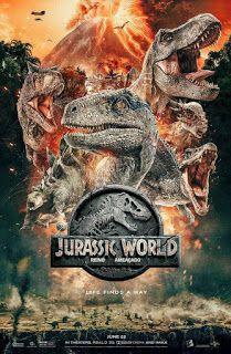 Quatro Anos Apos O Fechamento Do Jurassic Park Um Vulcao Prestes A Entrar Em Erupcao Poe Em Risco A Vida Na Jurassic World Mundo Jurassico Posteres De Filmes