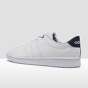ADIDAS ADVANTAGE CLEAN QT SNEAKERS WIT/BLAUW DAMES | Sneaker ...