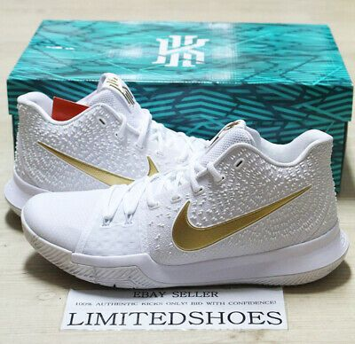 NIKE KYRIE 3 FINALS WHITE GOLD 852395