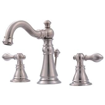Heritage Widespread Bathroom Faucet With Brass Pop Up Drain Reviews Joss Main Bathroom Faucets Widespread Bathroom Faucet Lavatory Faucet