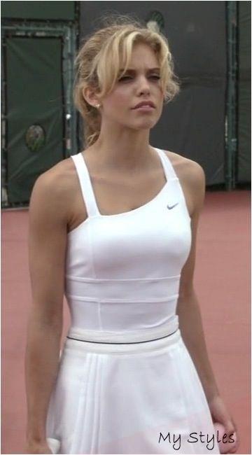 Naomi Clark So Cute To Play Tennis In Sporty Hairstyles Diy In 2020 Tennis Outfit Women Tennis Fashion Tennis Dress