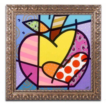 Trademark Fine Art Big Apple Iv Canvas Art By Roberto Rafael Gold Ornate Frame Size 16 X 16 Multicolor Ornate Frame Art Canvas Art