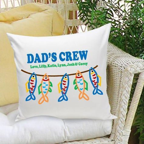 Personalized Parent Dad Throw Pillow Free Engraved Message