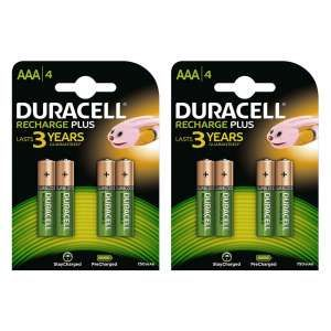Duracell Recharge Plus Aaa Batteries 750mah 8 Pack Duracell Nimh Battery Recharge