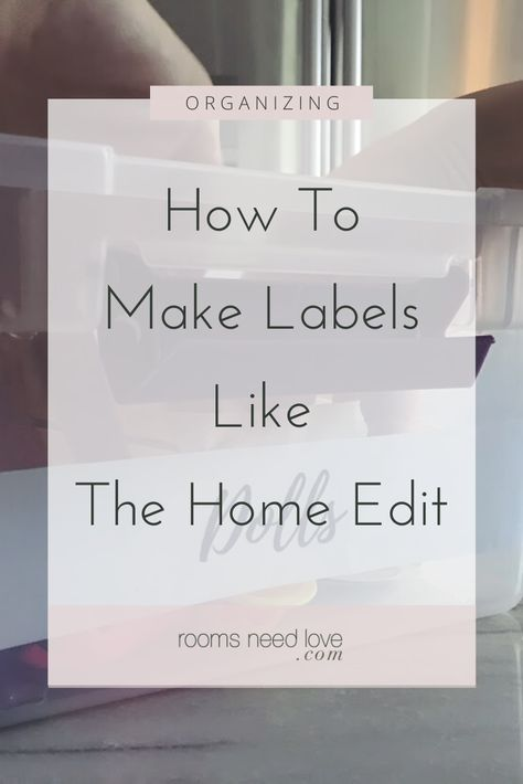 How To Make Labels Like The Home Edit. Here's a quick and easy tutorial to hack pretty handwritten organizing labels for your clear acrylic bins. Canning Labels, Pantry Labels, Canning Recipes, Printable Recipe Cards, Printable Labels, Printables, Organizing Labels, Organizing Ideas, Organizing Life