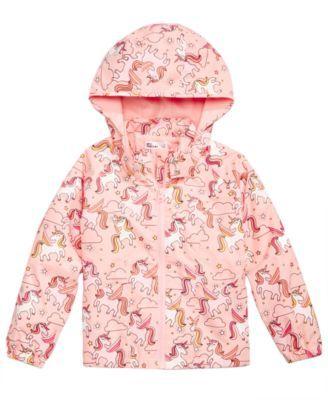 Rainbow Coat Hooded Kid Boys Girls Sun Water Proof Children Rain Jacket Outwear