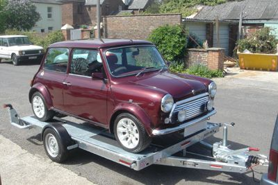 Classic Mini Towing Trailer Fiat Citroen