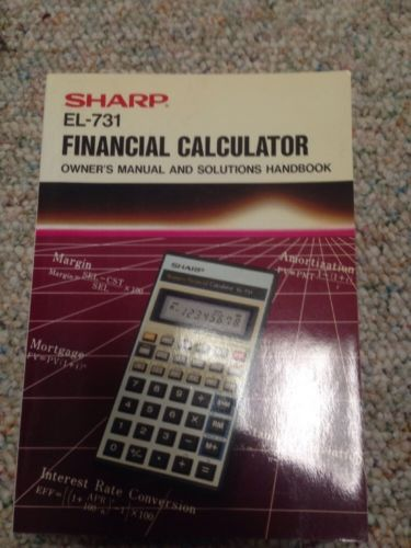Sharp El 731 Financial Calculator Calculator and Products - financial calculator