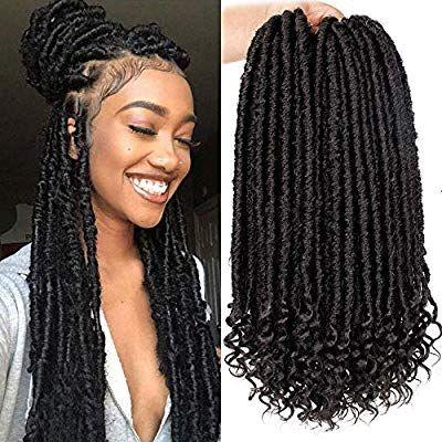 6packs Goddess Faux Locs Crochet Hair 16 Inch Straight Goddess