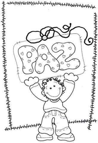 Colorear Dia De La Paz Y Dia De La Tolerancia 16 Dia De La Paz Dibujos De La Paz Paz