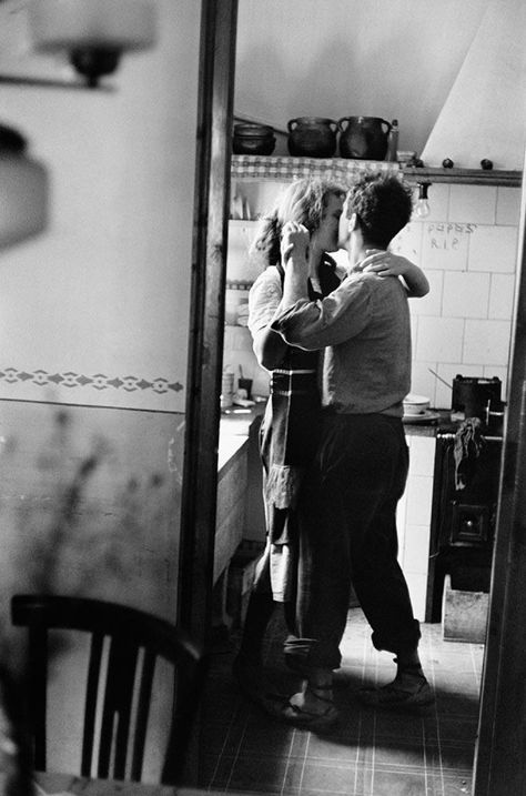 "Available for sale from Magnum Photos, Elliott Erwitt, ""Couple dancing"" (Valencia, Spain) Signed silver gelatin print (photographer's signature on …"