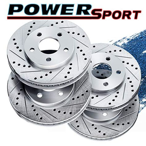 Front Premium Disc Brake Rotors and Metallic Pads fits 2010 ACURA TSX