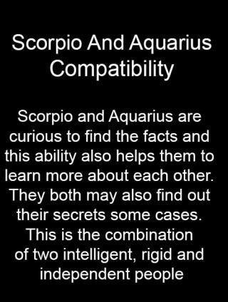 Friendship aquarius scorpio and Aquarius And