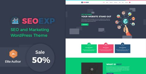 Seoexp - Marketing & SEO WordPress Theme - ThemeKeeper.com