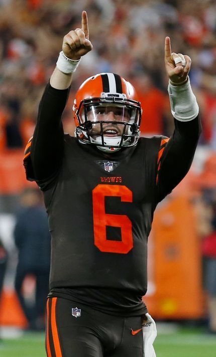 Baker Mayfield Cleveland Browns Action Photo Size: 8 x 10
