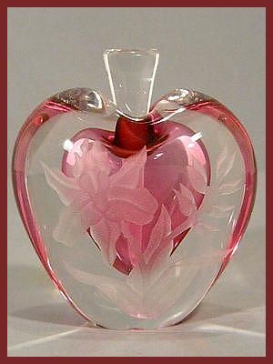 Unique Red Heart Perfume Bottle Elena