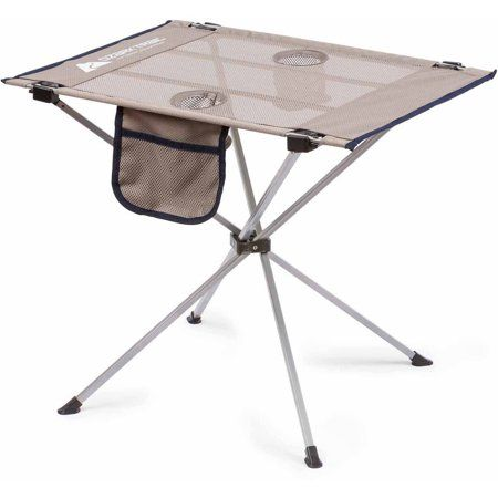 Ozark Trail Small Compact Side Table Warm Gray Walmart