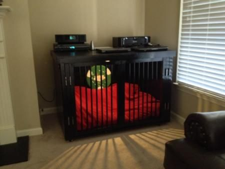 Great looking indoor dog kennel / Do It Yourself Home Projects ...