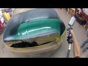 How To Paint A Car Bare Metal To Clearcoat Steps To Painting A Car At Home With Kevin Tetz Youtube Car Painting Auto Body Work Auto Body