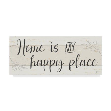 Home In 2020 Simple Signs Trademark Fine Art Wrapped Canvas Art