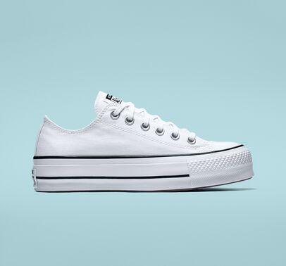converse low platform white