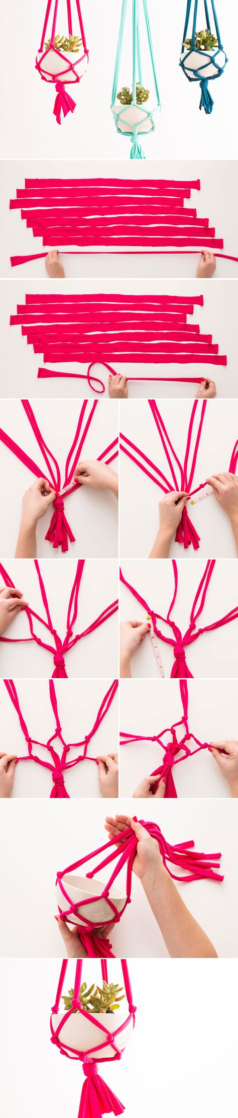 DIY your own macrame hanging vase with this tutorial. Use Hemptique hemp ropes for the best quality. #jasenhemp