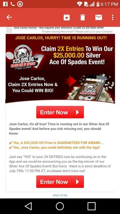 Win PCH Sweepstakes CLAIM SUPERPRIZE BY BRUCE t