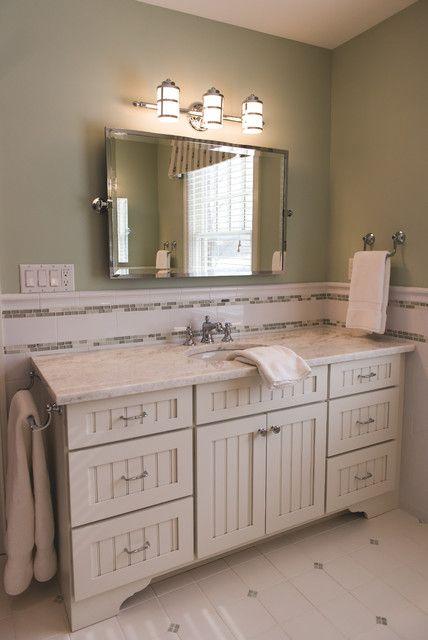 Bathroom Chair Rail Traditional Bathroom Small Bathroom Tiles Bathroom Tile Designs