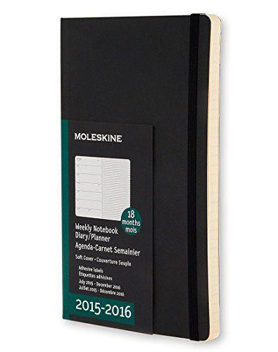 Moleskine 2015 2016 Weekly Notebook 18m Pocket Black Soft Cover 3 5 X 5 5 Moleskine 8052204400126 Amazon Com Books Moleskine Notebook Cover