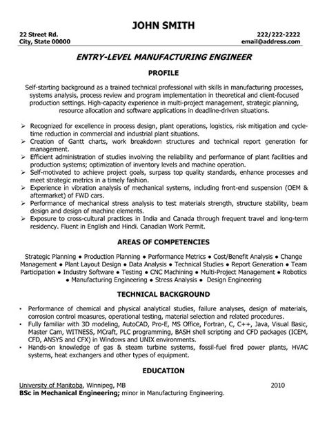 Manufacturing Engineer Resume Example Modelo - engineering report template