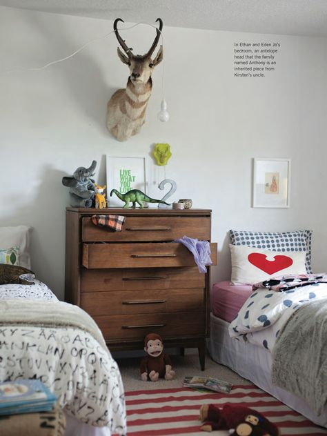 Kirsten Grove's Charming Abode! // I love how it's mismatched but it all goes together.
