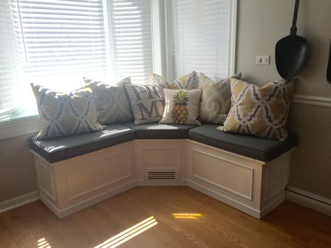 Banquette Corner Bench Seat With Storage By Prairiewoodworking | Storage  Ideas | Pinterest | Corner Bench Seating, Corner Bench And Bench Seat
