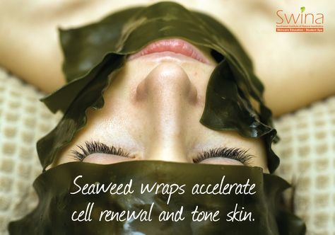 #Seaweed: You can eat it and let it sit on your #face and #body to renew your #skin. Leaving you with a clean, fresh and toned complexion. Book your appointment at our #spa today!